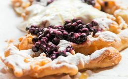 Delicious bilberry pancake Stock Images