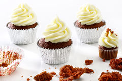 Delicious Black-and-white Cupcakes Stock Images