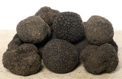 Delicious black truffles stock images