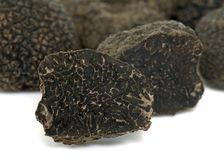 Delicious black truffles royalty free stock photos