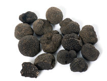 Delicious black truffles stock photography