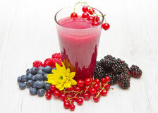 A Delicious blackberry,raspberry and blueberry juice. Delicious blackberry,raspberry and blueberry juice stock photos