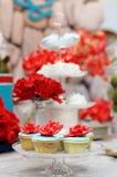 Delicious wedding cupcakes Stock Image
