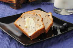 Delicious blueberry bread Royalty Free Stock Images