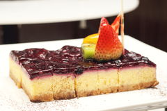 Delicious blueberry cheese cake Royalty Free Stock Photos