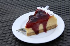 Delicious blueberry cheesecake Royalty Free Stock Images