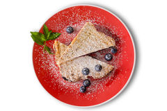 Delicious blueberry jam panini with fresh berries Stock Image