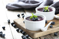 Delicious blueberry mousse Royalty Free Stock Photos