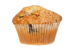 Delicious Blueberry Muffin Isolated on White Royalty Free Stock Images