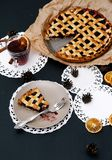 Delicious, blueberry pie Royalty Free Stock Images