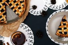 Delicious, blueberry pie Royalty Free Stock Photos