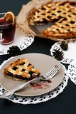 Delicious, blueberry pie Royalty Free Stock Photography