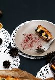 Delicious, blueberry pie Royalty Free Stock Image