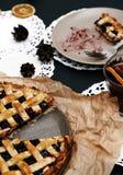 Delicious, blueberry pie Stock Photo