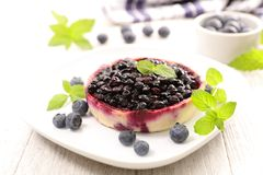 Delicious blueberry tart. Close up on delicious blueberry tart Royalty Free Stock Images