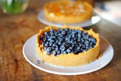 Delicious blueberry tart Stock Photos