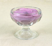 Delicious Blueberry Yogurt Royalty Free Stock Photo