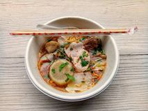 Delicious boat noodles royalty free stock image