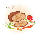 Delicious boiled pork Stock Photography