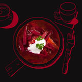 Delicious borsch soup. Royalty Free Stock Photography
