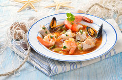 Delicious bouillabaisse Stock Photos
