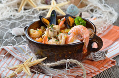 Delicious bouillabaisse Royalty Free Stock Image