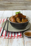 Delicious braised pig knuckles Stock Photos