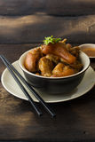 Delicious braised pig knuckles Royalty Free Stock Image