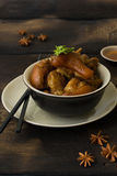 Delicious braised pig knuckles. In brown sauce Stock Images