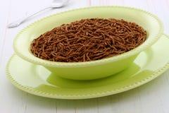 Delicious bran cereal breakfast Stock Image
