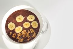 Delicious Brazilian Acai Snack Royalty Free Stock Images
