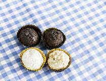 Delicious Brazilian sweeties on the table Stock Images