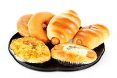 Delicious bread and donut Stock Images