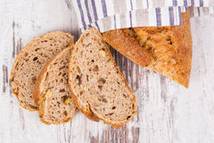Delicious bread still life. Royalty Free Stock Photo
