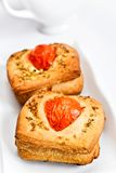 Delicious bread with tomatoes stock photos