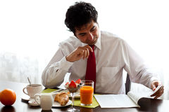 Delicious breakfast befor work Stock Images