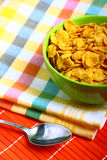 Delicious breakfast corn flakes Royalty Free Stock Photo