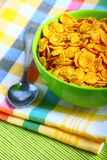 Delicious breakfast corn flakes Royalty Free Stock Photos