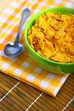 Delicious breakfast corn flakes Stock Images