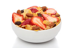 Delicious breakfast with cornflakes Stock Photography
