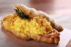 Delicious breakfast croissant Stock Photos