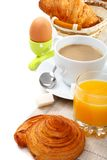 Delicious breakfast with croissants. Stock Photos