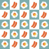 Delicious Breakfast with Egg and Sausages, egg vector, sausages vector Royalty Free Stock Photo