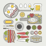 Delicious breakfast food Stock Images