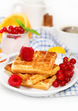 Delicious breakfast with fresh coffee Royalty Free Stock Image