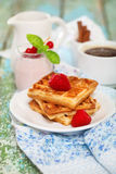 Delicious breakfast with fresh coffee Royalty Free Stock Photography