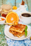 Delicious breakfast with fresh coffee Royalty Free Stock Images