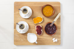 A delicious breakfast in the morning Stock Photos