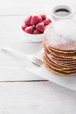 Delicious breakfast with pancake Stock Photos