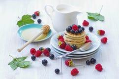 Delicious breakfast pancakes Stock Photo